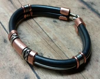 Custom Copper and Stainless Steel Bracelet
