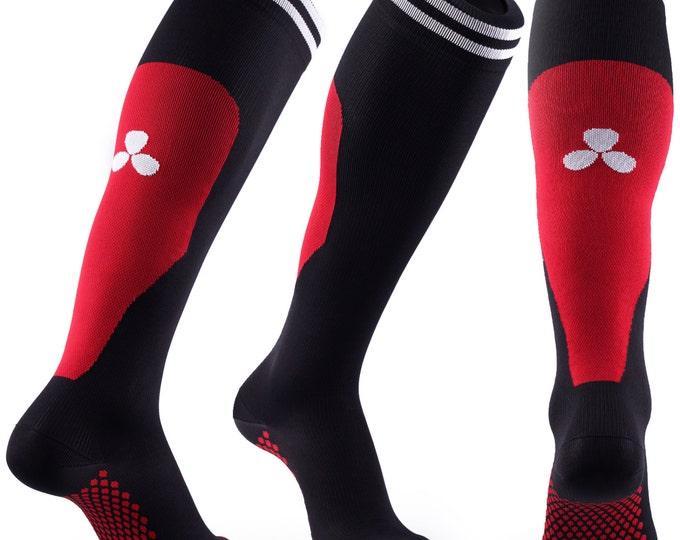 Samson® Red Compression Sport Socks Athletic Running Made in UK