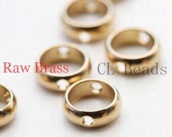 40 Pieces Raw Brass Round Bead Frame - Spacer 6x2mm (1833C-U-77)