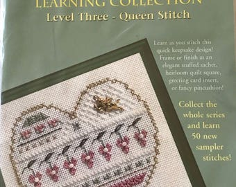 Cross stitch kit learn/beginners counted cross stitch/learn to cross stitch/Level three/Queen Stitch/learn to stitch/
