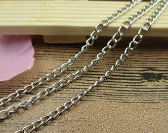 12Ft Length Chains-2.5x3.5mm,Chain for Jewelry Making, Bulk Chains,Antique Silver Tone-CS043