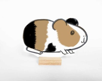 Wooden guinea pig Boris. Avaiable in different colours. Ideal pet. Great gift!
