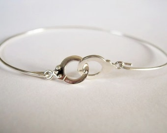 Rush handcuffs while Silver 925, bracelet end and delicate Rock Before Lou Rock