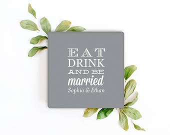 Custom Linen-Like Cocktail Napkins - Wedding, Birthday, Baby Shower, Dinner Party or any Event! - Set of 100 Napkins