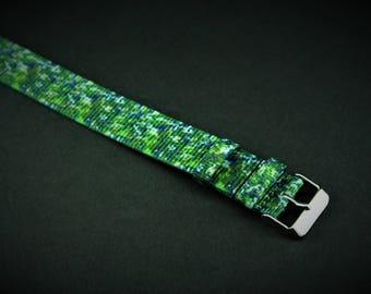Evergreen Slip Thru Nylon Watch strap - 20mm Timex Weekender Seiko