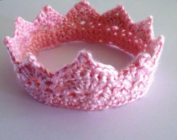 Items similar to Crochet Photo Prop Newborn Princess Crown ...