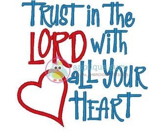Trust in the Lord Machine Embroidery Design