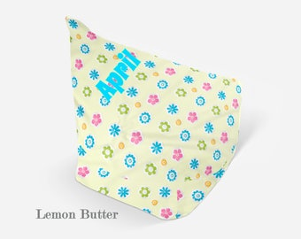 Personalized Bean Bag Chair - Kids Bean Bag Chair - Bean Bag For Kids - Bean Bag Cover - Bean Bag Chair With Flowers