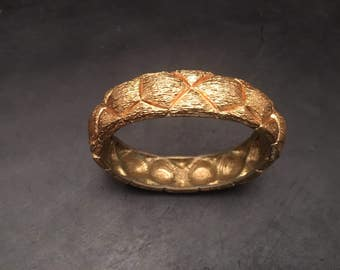 Vintage gold braid cuff