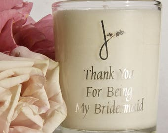 Thank You For Being My Bridesmaid Candle - Wedding Favours