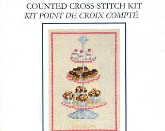 cross stitch Kit counted dmc card: cakes