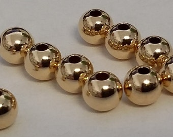 5 mm 14 kt Gold Filled Beads 10 pieces
