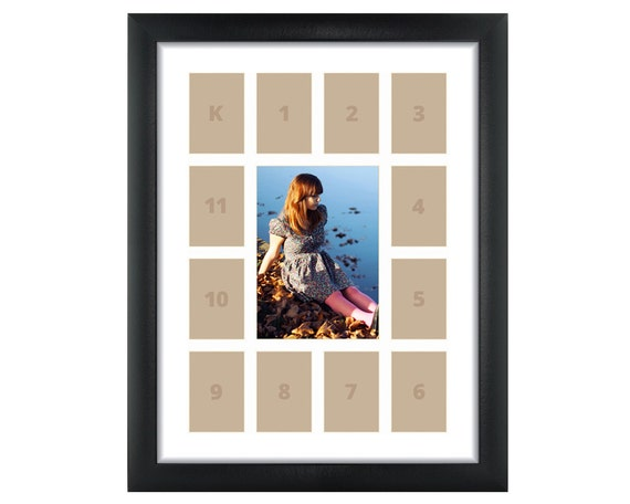 Craig Frames, 12x16 Inch Black School Years Frame, Single White ...