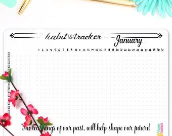 Habit Tracker Chart • Bullet Journal Sticker • Health Tracker • Daily Habit • Planner 2017 • Sticker Kit • Goal Tracker • Coloring Stickers