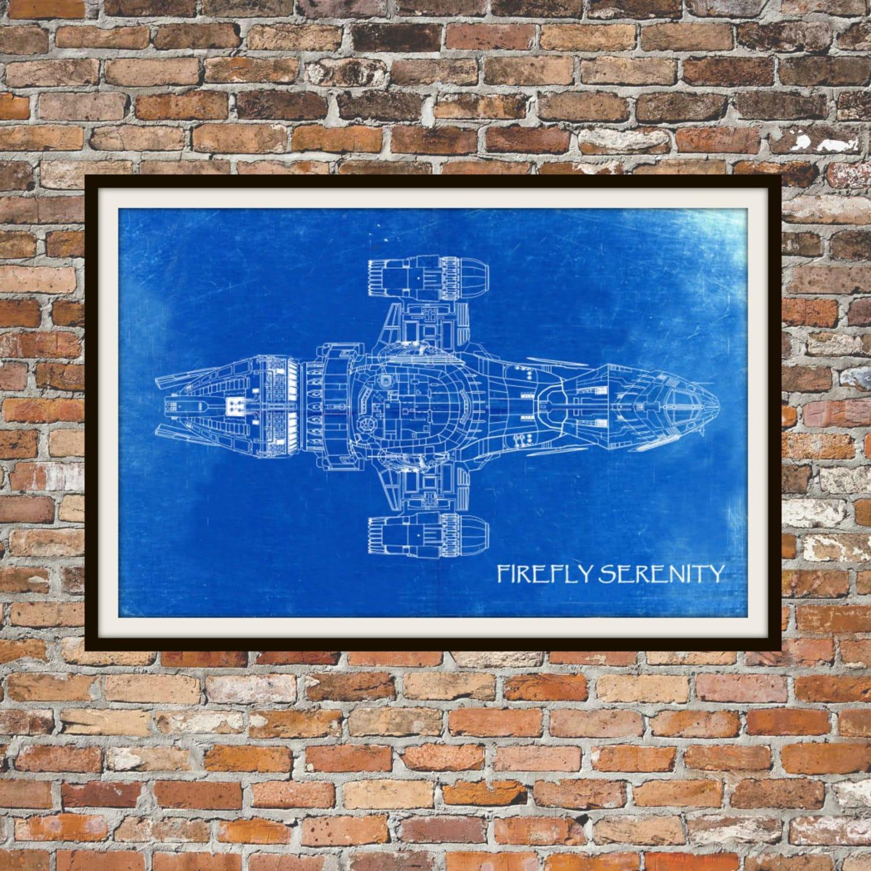 Glühwürmchen Serenity Draufsicht Blueprint Kunst der