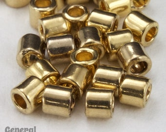 DBL034- 8/0 24 Karat Light Gold  Delica Beads