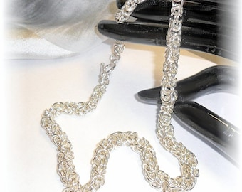 Chainmaille Necklace-graduated- Sterling Silver