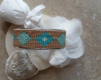 woven gold tone Bangle Bracelet
