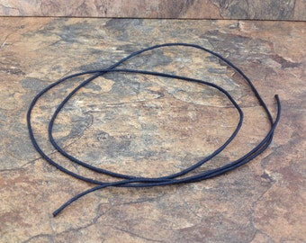 "Waxed Cotton Necklace Cord - 32-34"" Black"