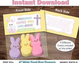 Easter Treat Bag Toppers/ Easter treat bags/ Easter treat bags for school/ Christian Easter Treat Bags Topper/ Jesus Easter favors/ Easter