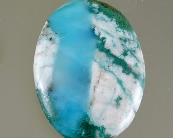 Gem Silica Chrysocolla Cabochon, Gem Chrysocolla with Malachite and Quartz Cab, Gift Cab, C2960, Hand Cut by 49erMinerals