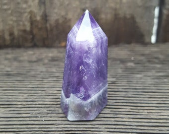 Chevron Banded Amethyst Point #2