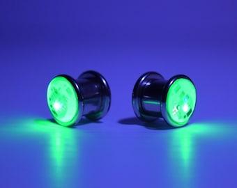 """LED Light up Ear Gauge Plug (Size: 10mm - 3/8""""- 00g)"""