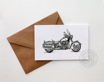 Indian Motorcycle Motorcycle Gift Motorcycle Print Motorcycle Art Vintage Motorcycle Garage Art Mechanic Gift Motorhead Automotive Decor