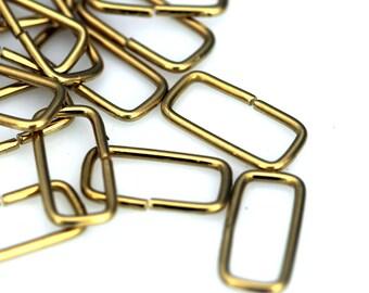 Rectangle jump ring 100 pcs 7 x 15 mm 17 gauge( 1,2 mm ) raw brass rectangle jumpring 521JR-36