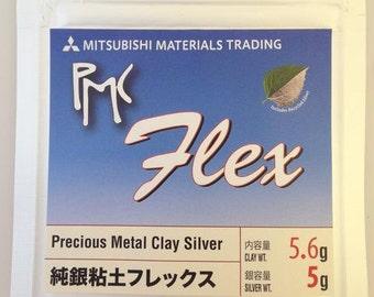 PMC Flex 5gms - Silver Precious Metal Clay - Silver Clay- Mitsubishi PMC Flex