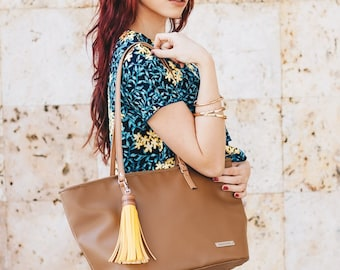 Brown wallet, synthetic leather, vegan wallet, brown, autumn wallet, big wallet