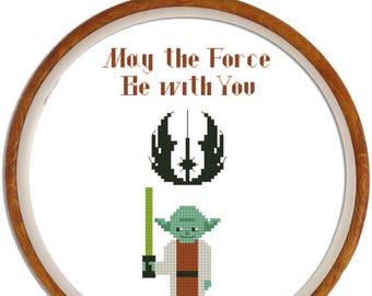 Star Wars pattern : Master Yoda. Cross stitch pattern Yoda cross stitch Star Wars digital cross stitch pattern Instant download in PDF