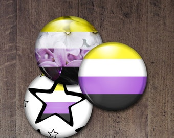 Non binary Pride Buttons