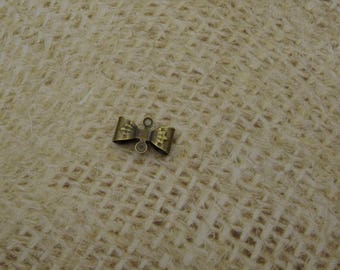 bow metal bronze 12mm 15 charms connectors