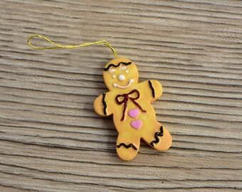 Vintage,Mini Ornaments,Mini Christmas,Ornaments,Gingerbread Ornament,Gingerbread miniature,Christmas Gingerbread