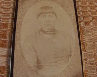 Antique CDV Native American Woman Lee Photographers Reading Pa