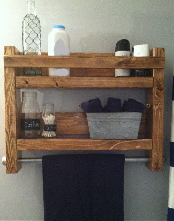 Rustic Towel Rack, Country rustic bathroom towel rack, Rustic Home decor, Bath Towel Rack, Rustic Industrial towel Rack, Teen bathroom