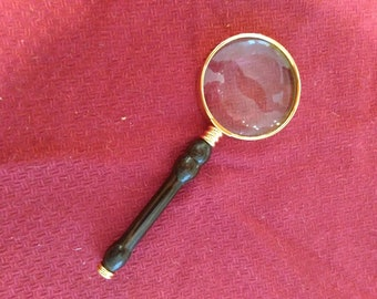 Fancy Hand-Turned Wood Magnifying Glass