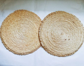 Flat Woven Placemats.
