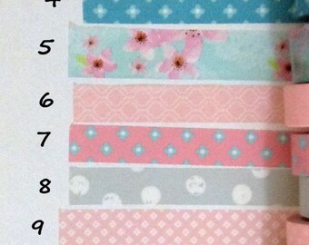 """Washi Tape 24""""Samples-Pinks and blues"""