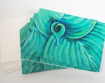 Harmonious Hosta - Botanical Illustration Greeting Cards - Set of 8