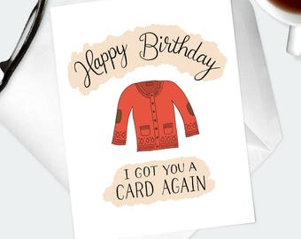 FUNNY PUN BIRTHDAY Card. Illustrated hand lettered artwork. Dad humour birthday greetings for best friend, pal, buddy, partner, coworker.