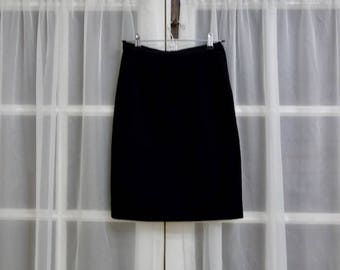 70s Vintage High Waisted Wool Skirt // Tight Wool Skirt