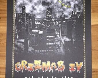Grizmas 2017 Screen Printed Poster