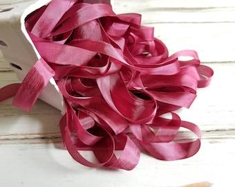 5 yards Elderberry Seam Binding. Packaging, Scrapbooking, Shabby Pretty Embellishment