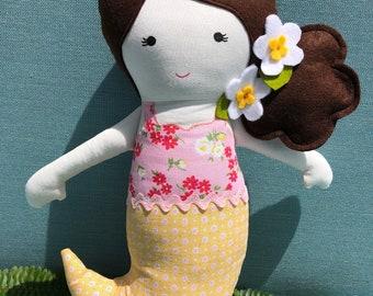 Fabric doll, Mermaid- Alisha