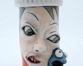 Prescription for LONELINESS, porcelain rattle