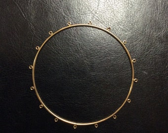 Gold-Filled Bangle Bracelet, 2mm wide, 12g, 16 loops, 9 inches