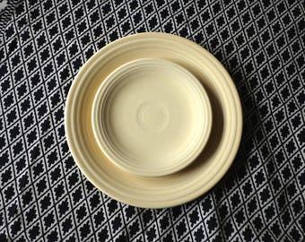 OLD vintage genuine Fiestaware / Vintage Fiesta ware Plates / Yellow Fiesta Plates / light yellow & Vintage Plates | Etsy
