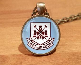 West Ham necklace, West Ham United necklace,  Antique Bronze necklace (75b)
